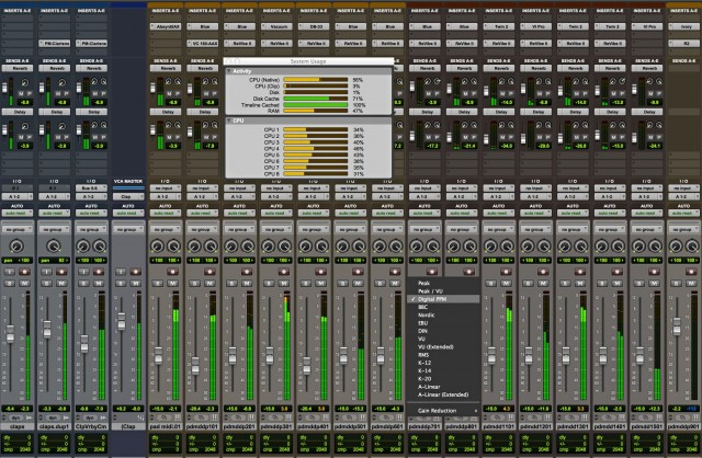 Accurate metering is another big boost, at least in Pro Tools HD. (Not the CPU meters - the audio meters behind.)