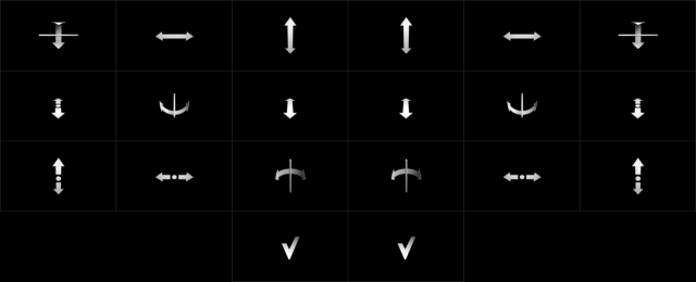 These strange glyphs represent the dictionary of hand gestures Geco and LEAP can turn into music control.