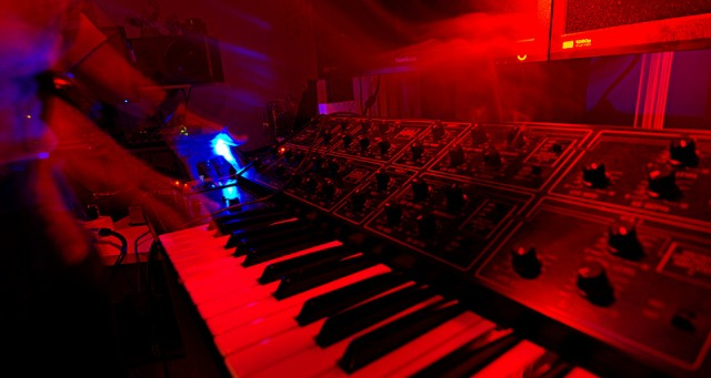 Real synths are feeding into the game. Yamaha CS-15.