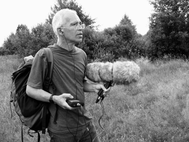 Peter Cusack, recording sounds at Chernobyl in 2007. All photos courtesy the artist.