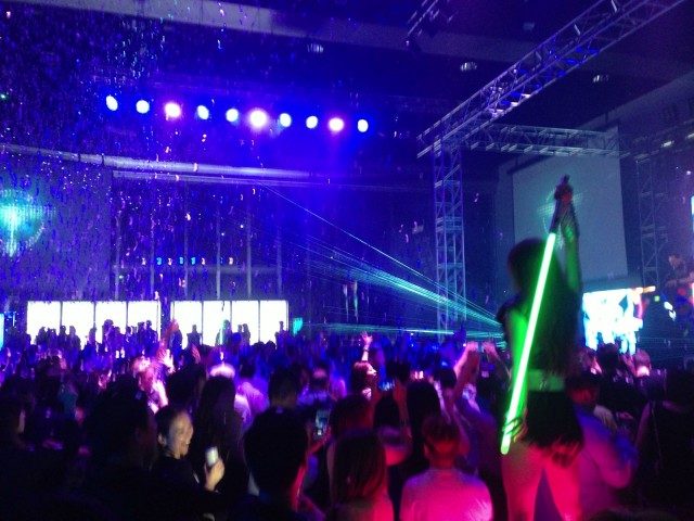 The laptop-free Tiësto party held by Acer in Taipei.