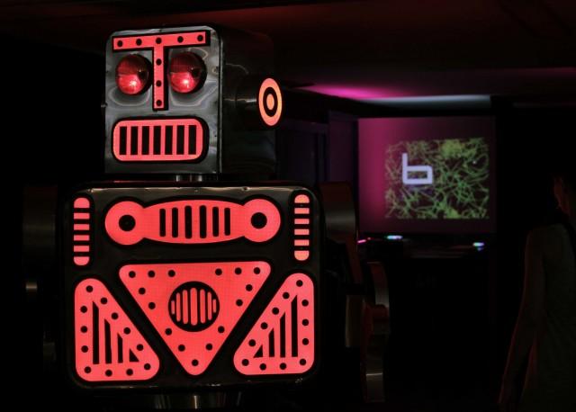 Robot, posing at SONAR. Photo courtesy Bhoreal.
