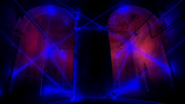 Lasers trace a transformed architectural space, in a choreography connected to sound and music. All images courtesy the artists.