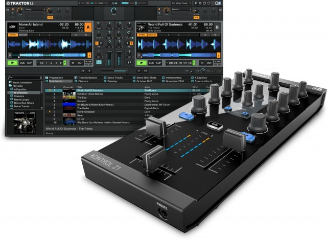 When you pair the Z1 with a Mac or Windows desktop, Traktor LE is the logical companion. It seems, though, that while NI isn't pushing the feature, other apps should work with MIDI and audio just as on NI's other products - though, of course, Traktor is the logical choice with this accessory.