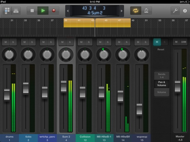 Mixing and transport control is often much easier in the iPad app than with a mouse.