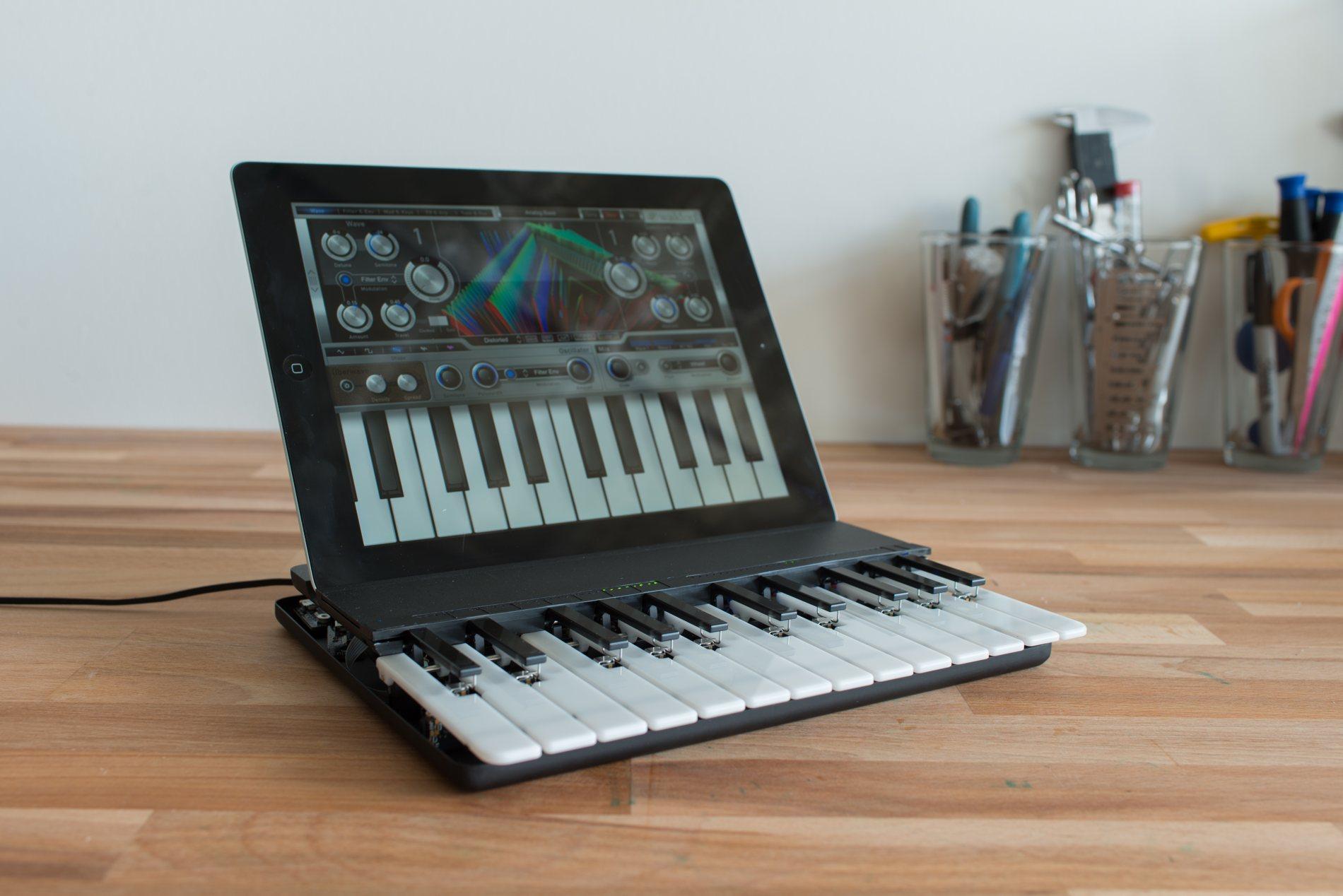 miselu uses wireless magnets ribbon springs for upcoming midi keyboard ios desktop create. Black Bedroom Furniture Sets. Home Design Ideas