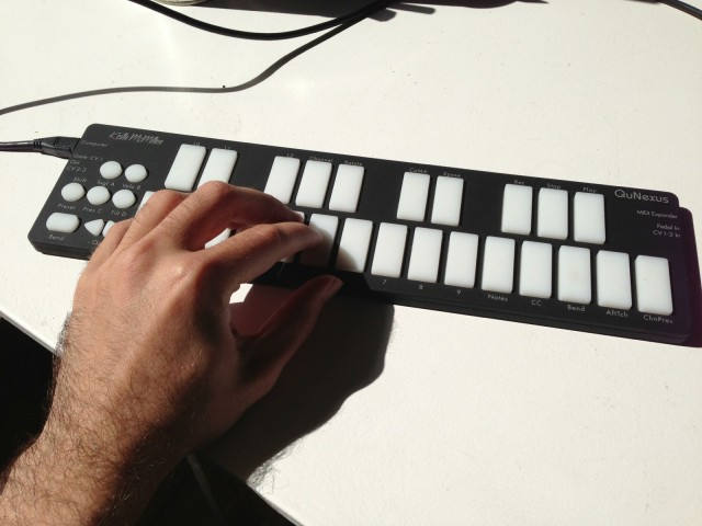 Playing the QuNexus can be immensely satisfying, partly because it can comfortably switch between expressive synth keyboard and drum controller. You just have to embrace the idea that it isn't a conventional keyboard.