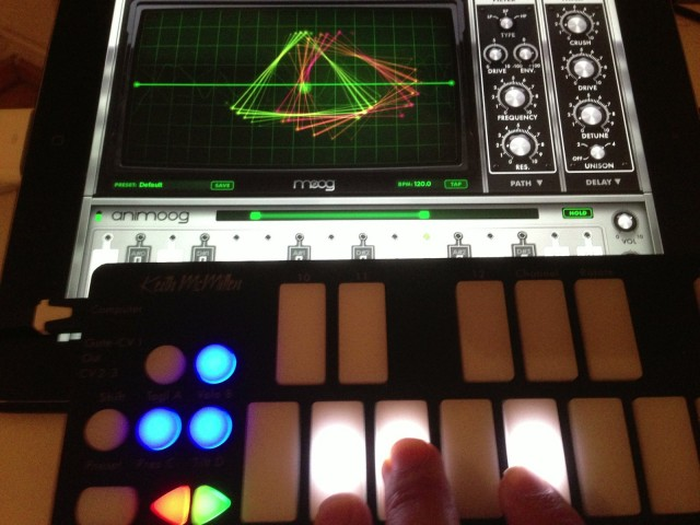 Mapped to a useful modulation parameter, the QuNexus' pressure sensitivity really shines. Sure, you could do this with a drum pad controller - but if you're used to a piano layout, the QuNexus is far easier. It really is a joy with synths like the iPad's Animoog.