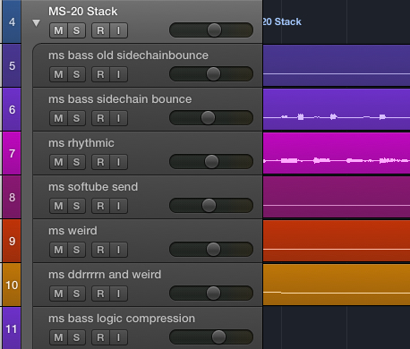 Track Stacks offer powerful tools for creating everything from instrumental multis and stacks to grouped tracks for drum recordings.