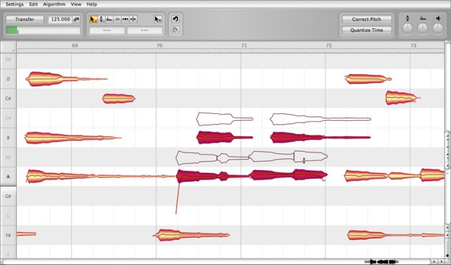 Here's where Celemony set themselves apart: polyphony. That's chords we're editing, not a solo line. Many can do the latter, but the former is a big deal. Screenshot: Celemony.