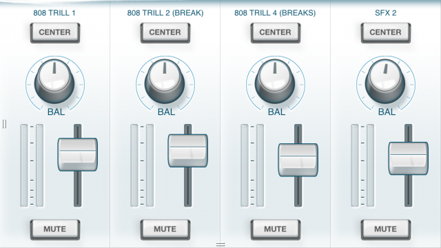 Mixer interface.