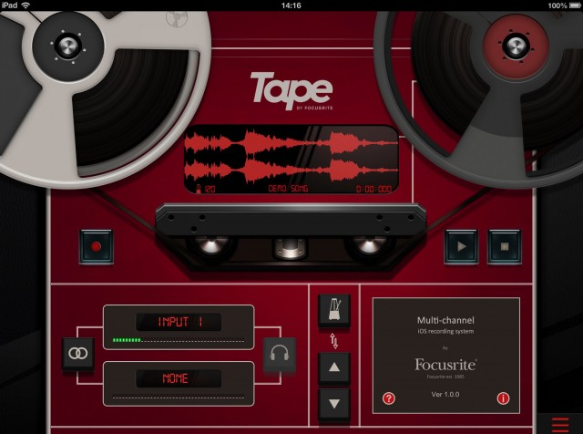 Tape wants you to record - right now. And share, right now. Also: Skeuomorph this.