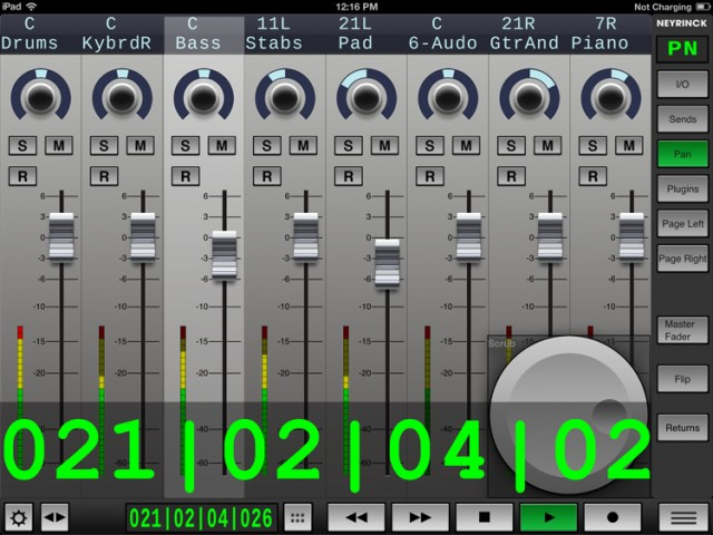 This isn't Pro Tools. This is the mix window for Ableton Live. And that means people long wanting a traditional mixer control for Live will feel right at home.