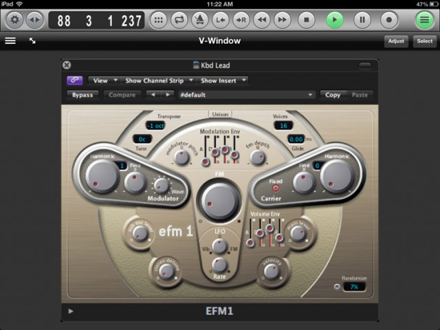 Apple's Smart Controls work beautifully - for those instruments and effects for which Apple built templates. But why not use the whole interface? That's what V-Window does for you.