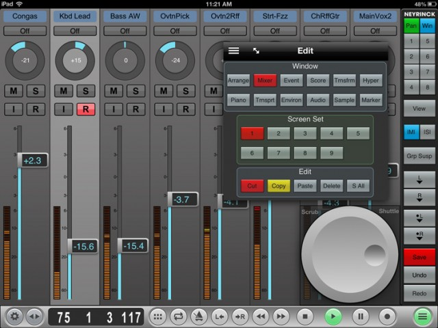 Logic Pro mixing window. Clean as Apple's own offering is, you quickly realize that something close to this may be more what you want.