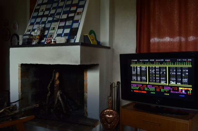 Watch for our upcoming program on geeky musician interiors. This is goto80's fireplace, floppy disk collection, and hacked teletext TV turned into a music tracker. Photo courtesy the artist.