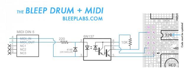 MIDI-Bleep-Drum-schematic