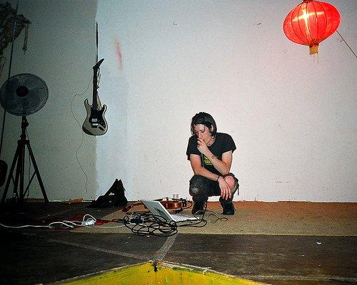 Ezra Buchla, at work. Photo courtesy the artist.
