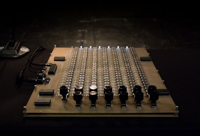Noise Patterns' array of minimal 1-bit electronics, the instrument that makes the sound.
