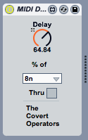 MIDI Delay.