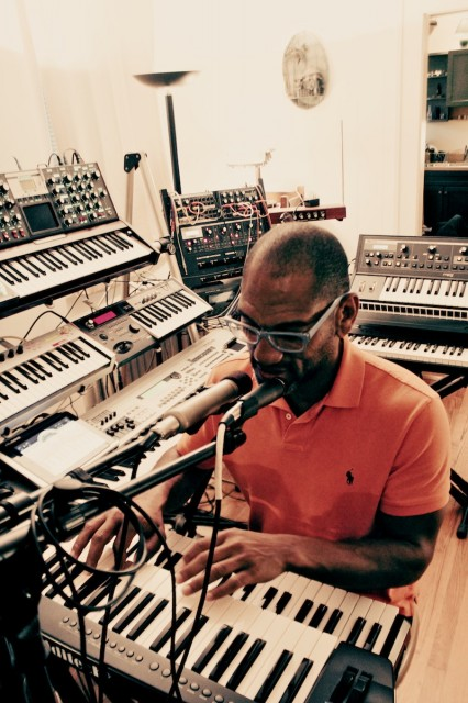 King Britt, jamming.