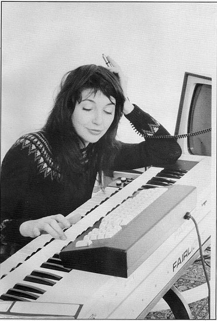 Kate Bush, demonstrating some kind of Fairlight CMI nirvana. Yeah - like that. From Daniel Rehn.