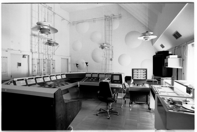 EMS' sleek studio, seen in 1980.