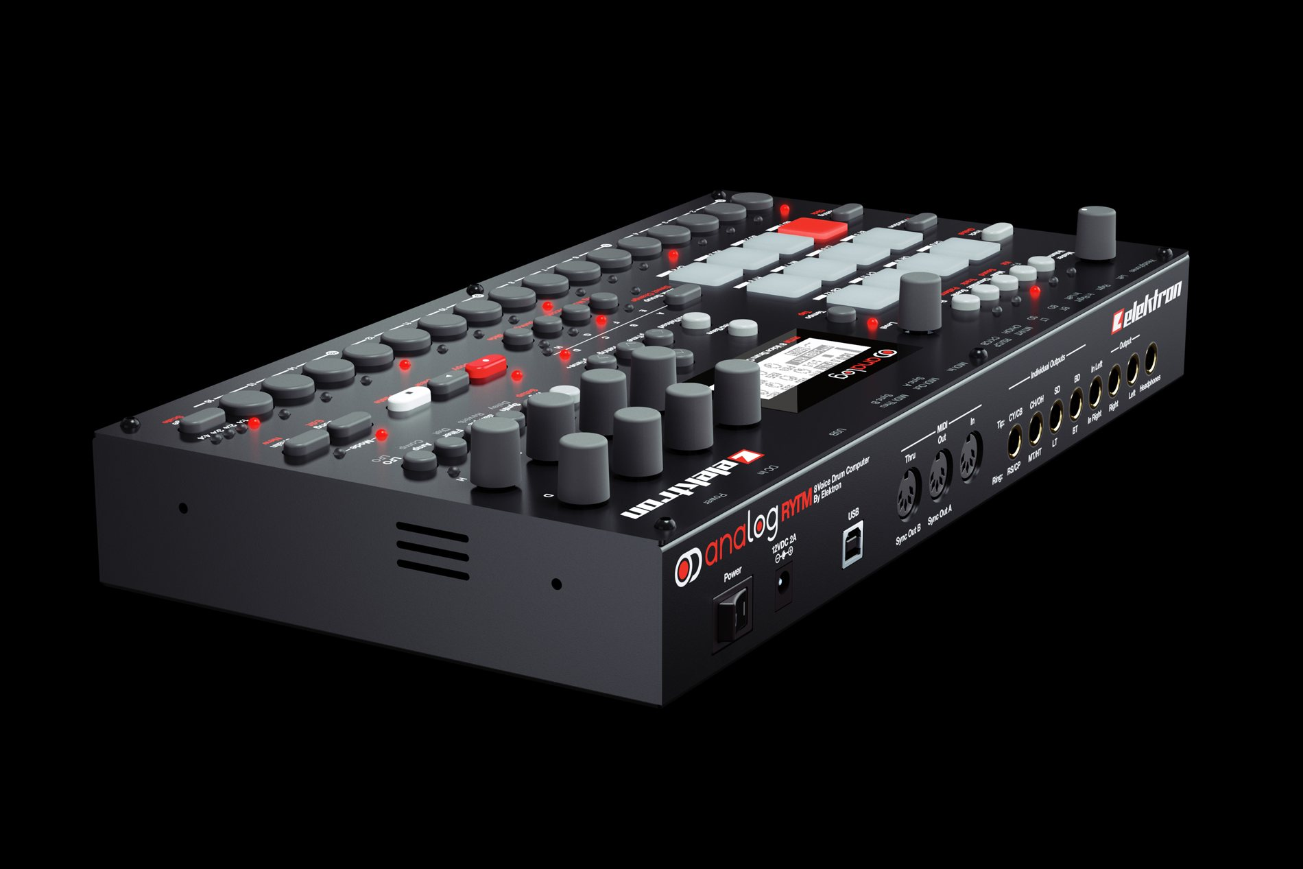 elektron analog rytm drum machine specs pricing photos cdm create digital music. Black Bedroom Furniture Sets. Home Design Ideas