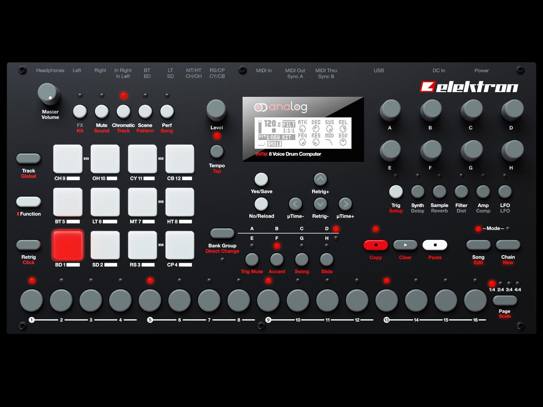 elektron analog rytm drum machine specs pricing photos cdm createdigitalmusic. Black Bedroom Furniture Sets. Home Design Ideas