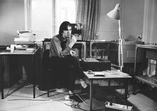 Erkki Kurenniemi, in his university studio, circa 1971.