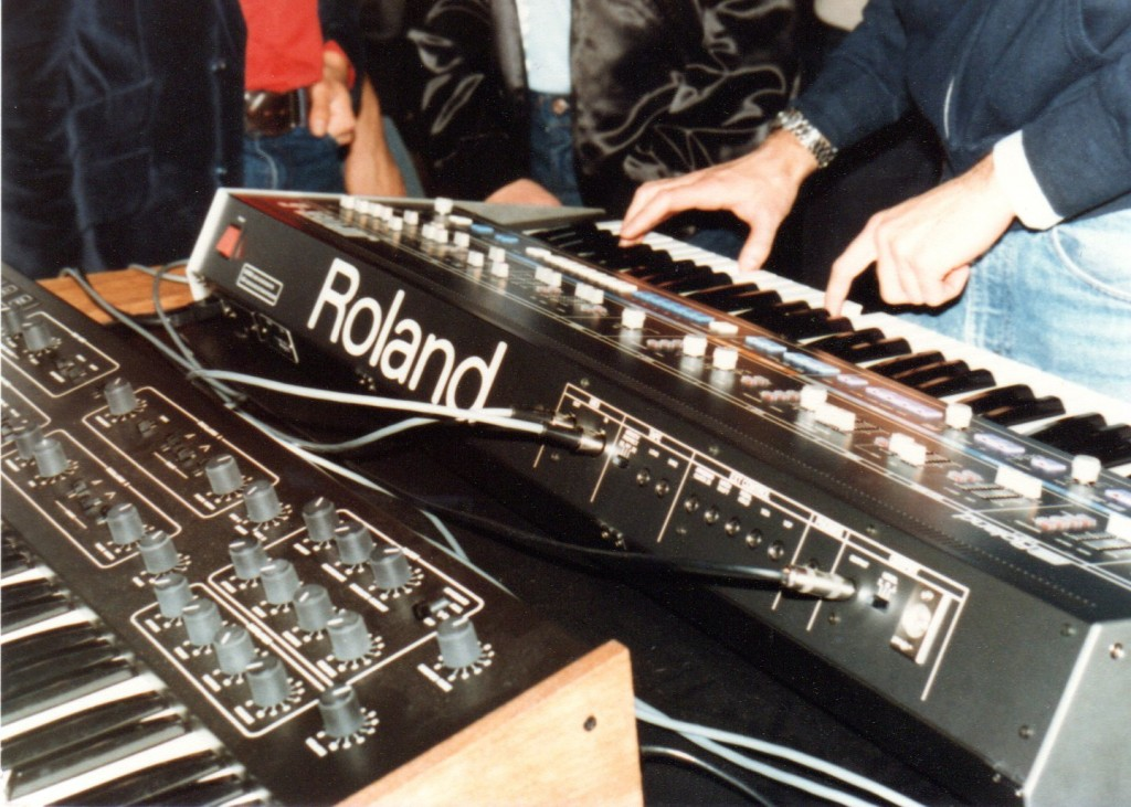NAMM, 83. Kakehashi joined Dave Smith to show a MIDI connection, live, for the first time - between his synth's and Sequential's.