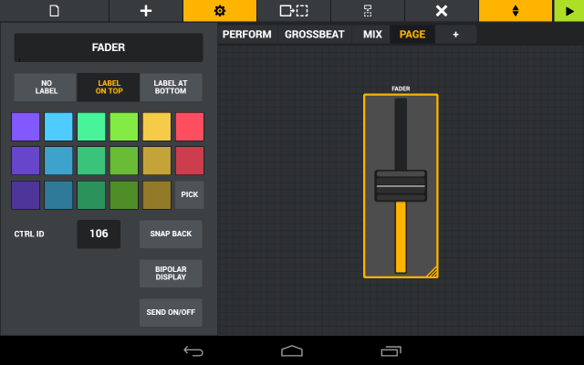 Custom layouts let you map your own controls.