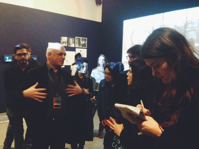 Curator Andrey Smirnov with participants of our hacklab at CTM Festival, earlier today.