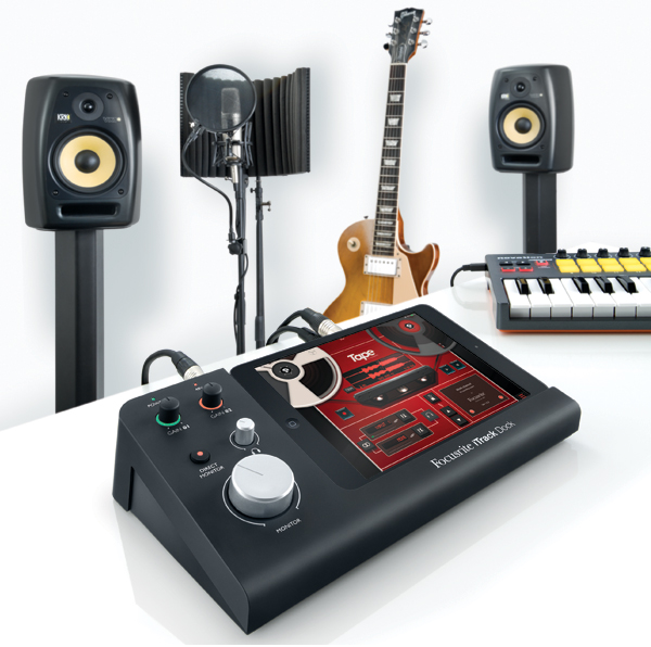 The iPad wants a place in your recording rig - and to make recording friendlier. Photo courtesy Focusrite.