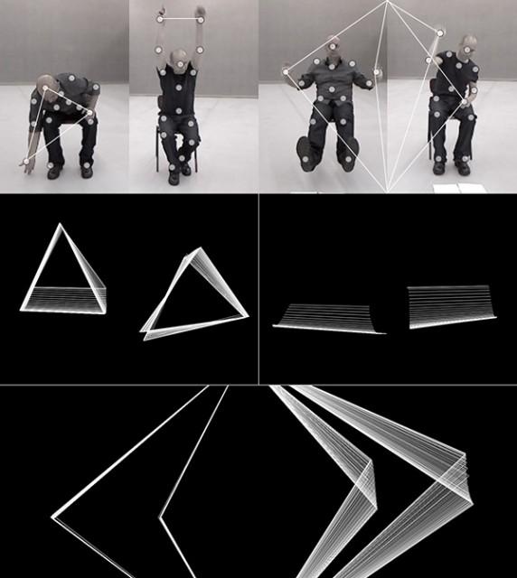 Rodrigo Carvalho's experiments meld choreographic data with generative visualization. Photo courtesy the artist.