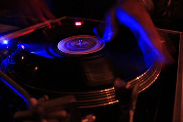 Where it began: turntablism. Now, what if that record weren't centered, and weren't playing at a constant speed... Photo (CC-BY-SA) sunny_J.