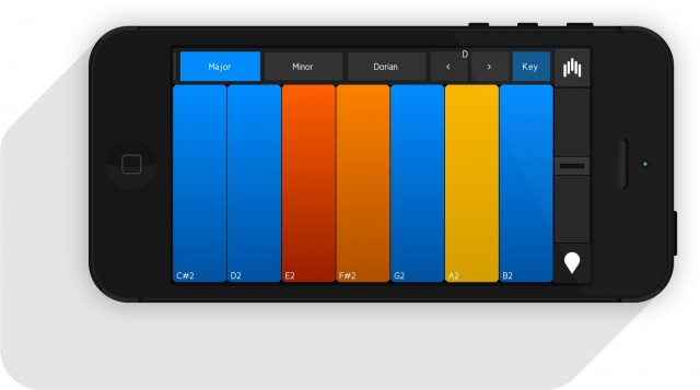 Play instrumental patterns from an on-screen keyboard - and optionally keep everything in-key.