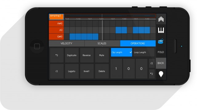 Far from just mixing and transport controls, touchAble includes advanced clip editing options. That incorporates features that could help you get creative with patterns as you sketch them. Finishing a track idea on easyJet: within reach.