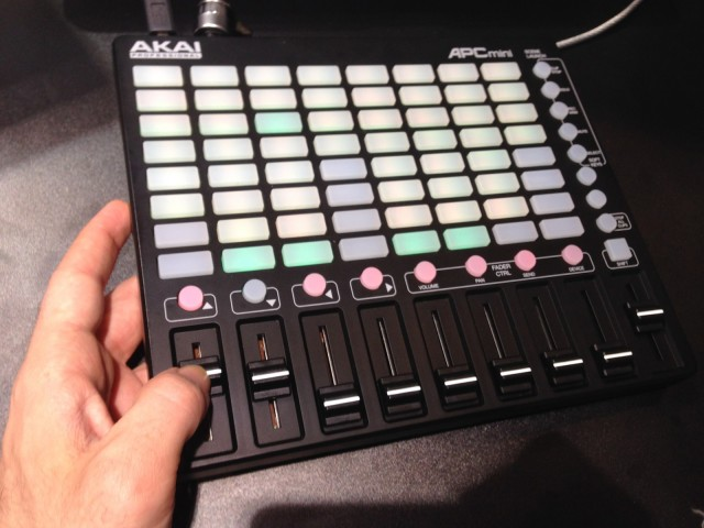 The ultra-portable MINI, now with faders. (And I have fairly small hands.)