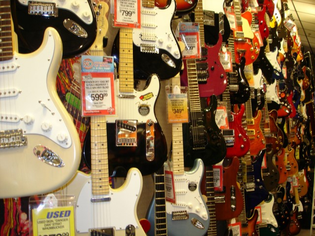 Build too many stores too fast full of this, and you could wind up in debt. Guitar Center could face a new owner and restructuring. Photo (CC-BY) Judi Stevenson / Flickr: chascar.
