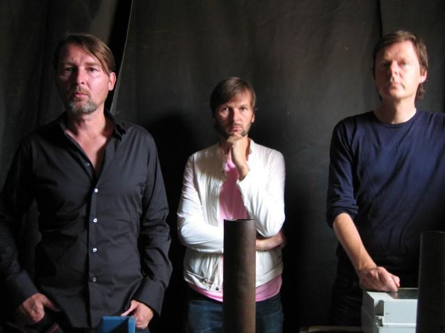 To Rococo Rot, the trio. Courtesy Domino Records.