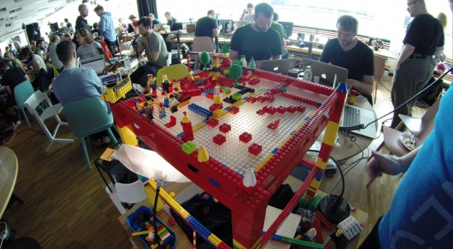LEGO experimentation from the same team, at Stockholm's MIDI Hack Day last month.