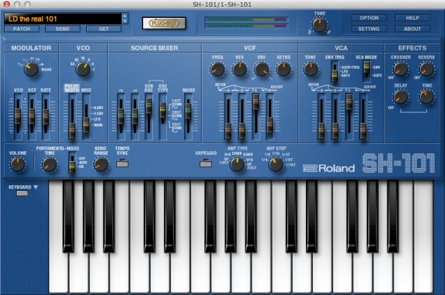 It covers just the basics, but sounds the business - and it's free with the SYSTEM-1. The SH-101 plug-in. (Yes, plug-in - we're not to the plug-out bit yet.)
