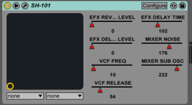 Automation data is now saved directly from the plug-in - as you tweak the physical controls on the hardware. It's a lovely arrangement. These parameters mapped automatically in Ableton Live.