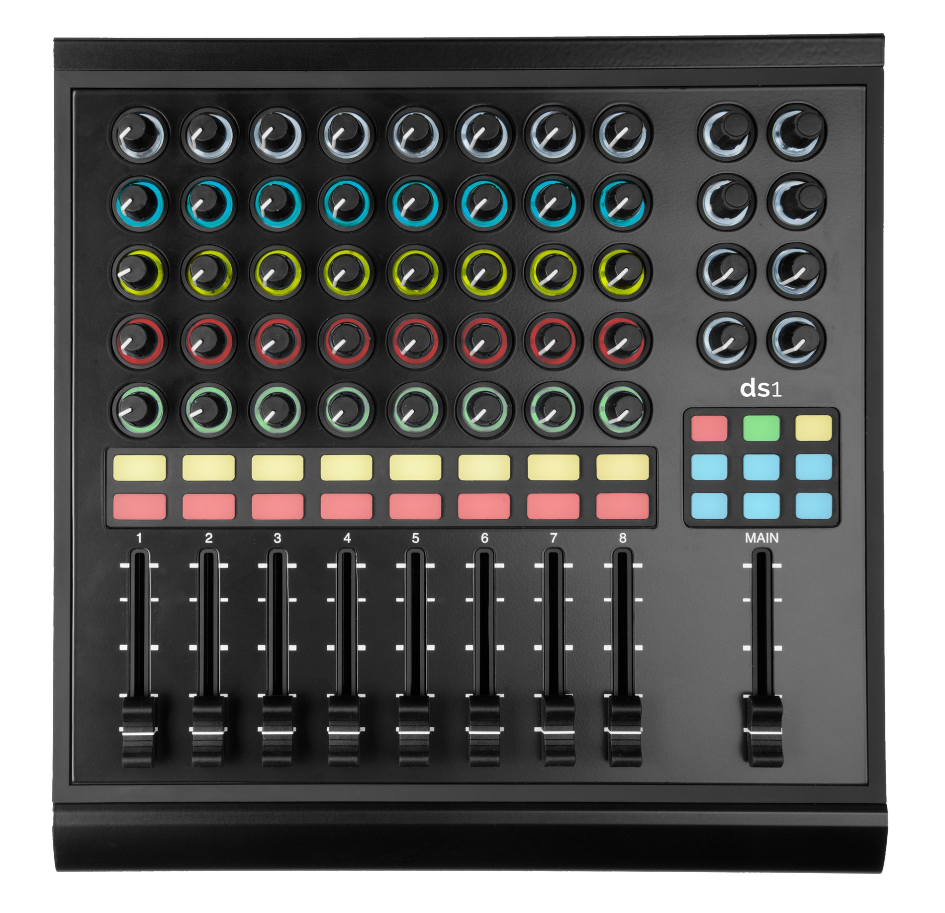 midi controller with loads of faders knobs app support livid ds1 on preorder gallery cdm