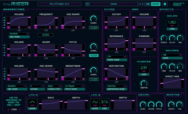 The Riser Synth Makes it Easy to Make Ridiculous EDM Rises, Drops; Try it Free