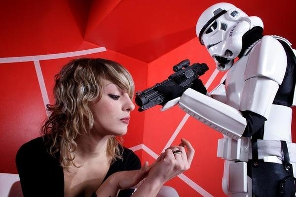 Think Stormtroopers more than Diane Keaton when you hear her name. And don't expect her to give up any rebel secrets, really. Photo of the artist, courtesy the artist.