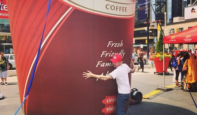 Careful, drinking this much coffee could start some Internet feuding. I know. Photo from the artist.
