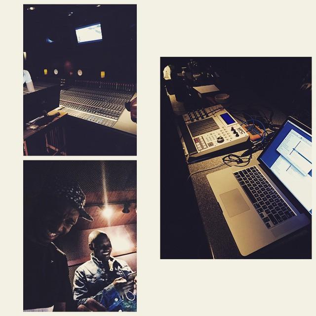 Donut in the studio.