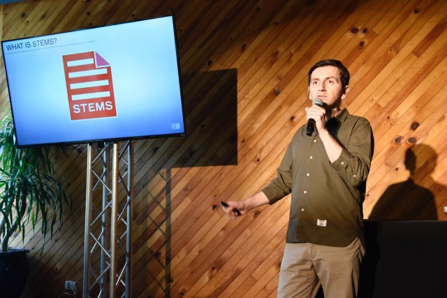Native Instruments CTO and President Mate Galic introduces Stems at Miami's Winter Music Conference. Image courtesy Motormouth Media.